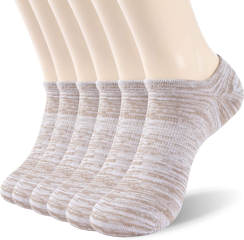 WXXM Soft Cotton Breathable Invisible Low Cut Non-Slip Athletic No Show Socks for Men & Women