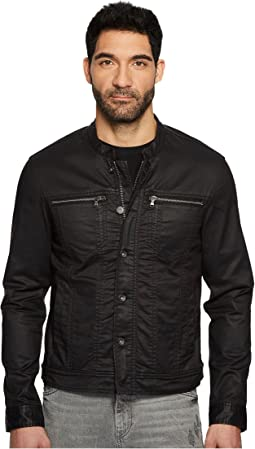 John Varvatos Star U.S.A. - Collarband Denim Style Jacket