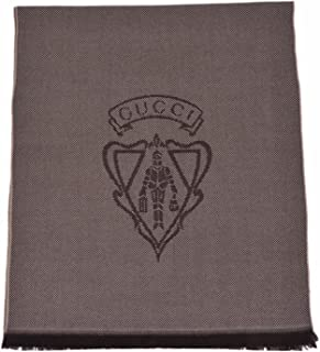 Gucci Men's Wool Hysteria Crest Logo Scarf Muffler (Brown)