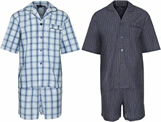Champion 2 Pack Mens Luxury Polycotton Short Pyjama Lounge Wear Pajama