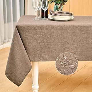 رومیزی پارچه ای تزئینی ضد انقباض نرم و ضد چین و چروک پارچه میز تزئینی Mebakuk Rectangle Meten Linen