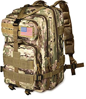 NOOLA 40L Military Tactical Backpack 3 Day Pack Molle Bag Backpack Army Rucksack