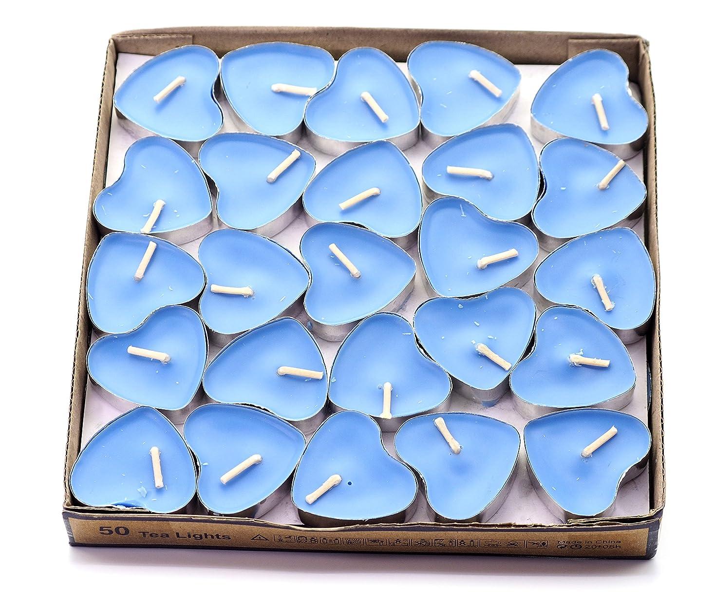 木製櫛キネマティクス(Blue(ocean)) - Creationtop Scented Candles Tea Lights Mini Hearts Home Decor Aroma Candles Set of 50 pcs mini candles (Blue(Ocean))