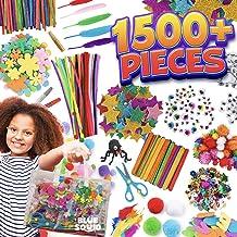 Arts and Craft Supplies for Kids – 1500+pcs in Easy Store Bag, Kids Craft Art Supply, Kids Scrapbooking Craft Set, DIY Cra...