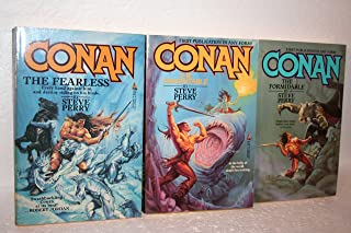 Steve Perry 3-Title Collection of Conan The Barbarian Series: The Fearless; The Indomitable & The Formidable