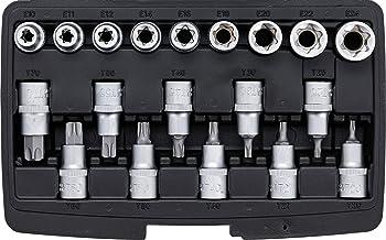 Justech 1//4 Cl/é Dynamom/étrique 5-25NM 6pcs Adaptateur de Cl/és /à Douille Jeu de R/éparation pour V/élo Moto Voiture etc. 46pcs Kit de Cl/é /à douille 1//4 Bo/îte /à cliquet
