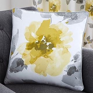Fusion Adriana - Cojín Relleno 100% algodón, 43 x 43 cm, Color Ocre