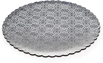 13.5x9 W PACKAGING WPSD4325 1//4 Sheet Pack of 50 Silver Double Wall Scalloped Edge Cake Pad Corrugated with Coated Embossed Foil Paper