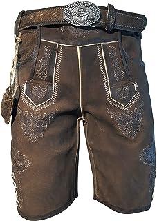 Pantaloni in Pelle da Uomo Trachten Lederhose Short Lederhose con Cinturino Trachten Lederhose Taglia 44-64 Modello B/ärenstein