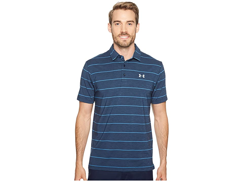 Under Armour Golf UA Playoff Polo (Academy Medium Heath/Urban Blue/Overcast Gray) Men