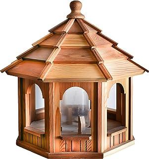 "BCH WOODCRAFTERS Cedar Bird Feeder Gazebo 20"" Dia.X 18"" Tall"