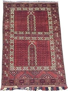 Fine 4X6 Hatchli Turkoman Tribal Khal Mohmadi Hand-Knotted Afghan Wool Area Rug (3.6 x 6)