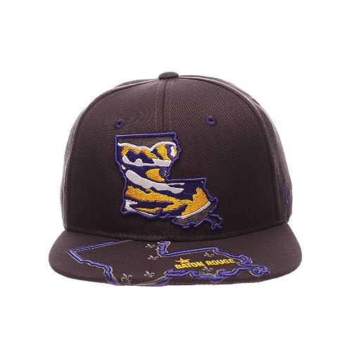 32b603d9665 Zephyr NCAA LSU Tigers Men's Stateline Snapback Cap