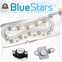 3387747 & 279973 Dryer Heating Element With Dryer Thermal Cut-off Fuse Kit by Blue Stars- Exact Fit for Whirlpool Kenmore Dryers