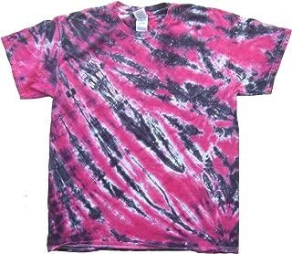 tie dye pink and black