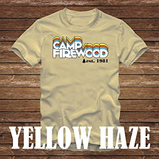 CAMP FIREWOOD T-Shirt 1981 version- wet hot american summer first day of camp tshirt paul rudd amy poehler bradley cooper- 441