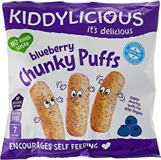 KIDDYLICIOUS Chunky Blueberry Puffs, 12 gm