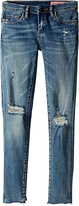 Denim Distressed Skinny in Shot Not (Big Kids)