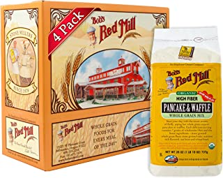 Bob's Red Mill Organic High Fiber Pancake & Waffle Mix, 26-ounce (Pack of 4)