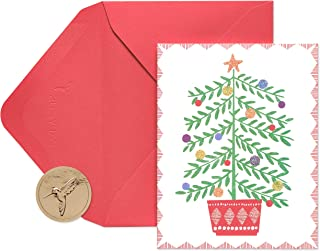 Papyrus Holiday Cards Boxed, Tree in Pot (20-Count)