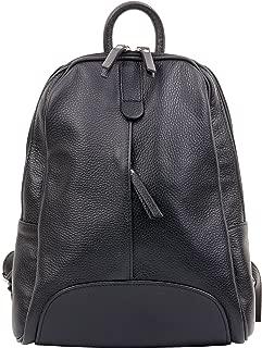 Primo Sacchi Ladies Italian Textured Leather Back Pack Rucksac Grab Shoulder Bag Handbag