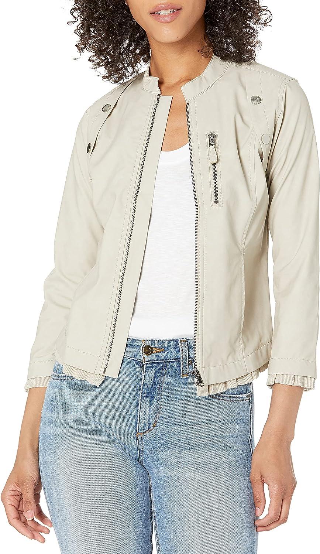 NIC+ZOE Women's Femme Faux Leather Jacket