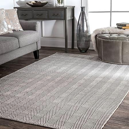 Amazon Com Nuloom Kimberely Hand Loomed Area Rug 4 X 6 Grey Furniture Decor