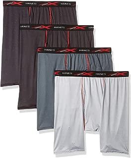 Men's X-Temp 4-Way Stretch Mesh Long Leg Boxer Brief 4-Pack
