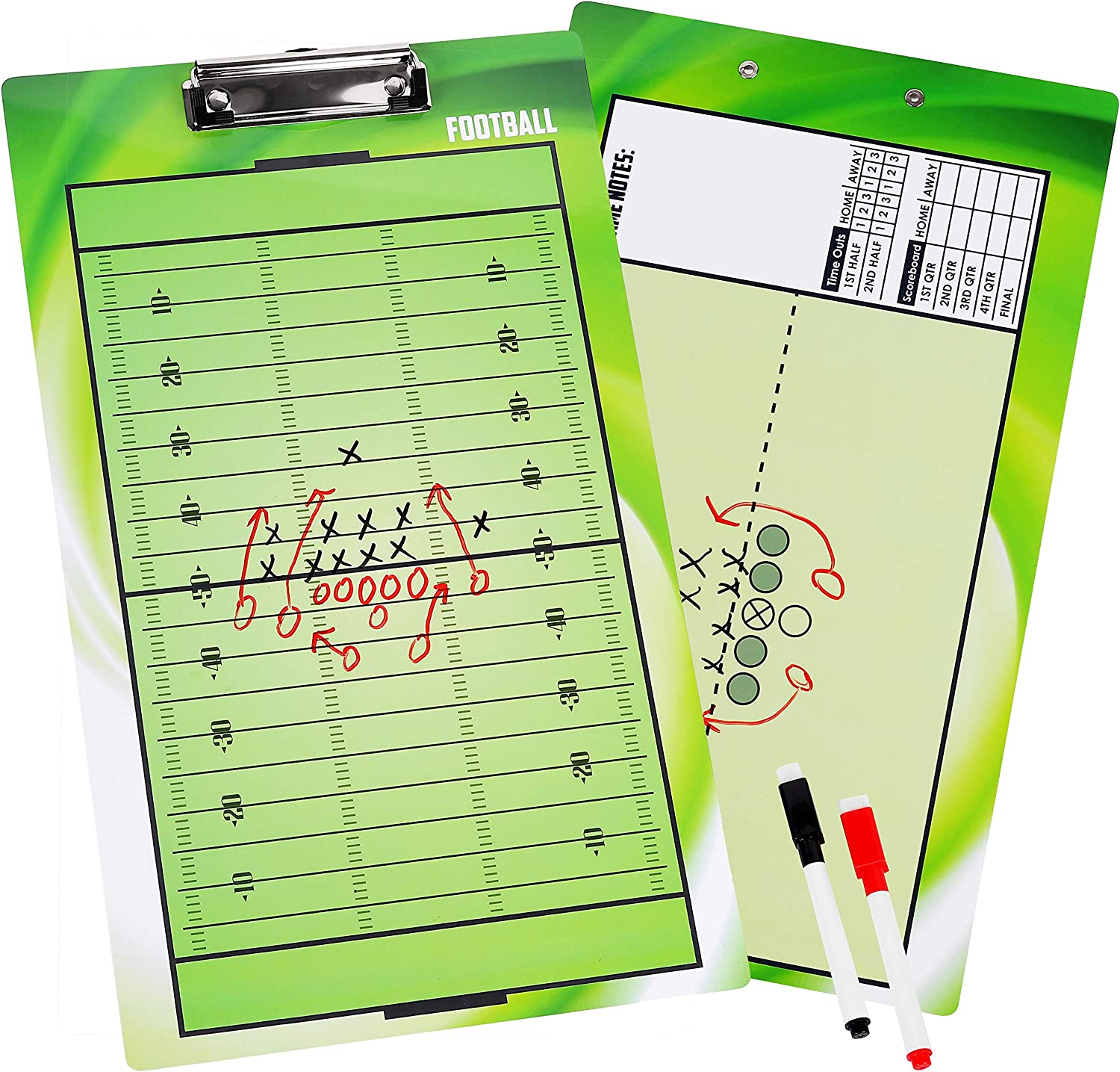 BETTERLINE Large discharge sale Football Coaching Bombing new work Board Double-Sided Clipbo Dry-Erase