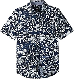Vans Kids Trippin Batik Trippin Short Sleeve Woven (Big Kids)