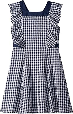 Gingham w/ Ruffle Sleeve Dress (Big Kids)