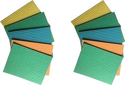 Brite Guard Cellulose Cleaning Sponge Mop (16x20x0.5 cm, Multicolour) -10 Pieces