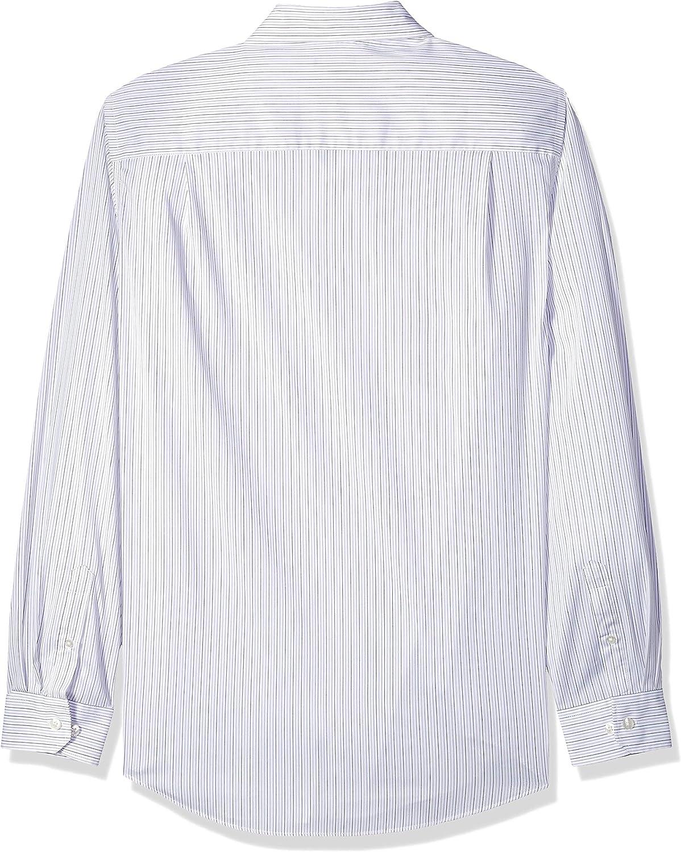 Van Heusen Men's Big and Tall Traveler Stretch Long Sleeve Button Down Black/Khaki/Grey Shirt