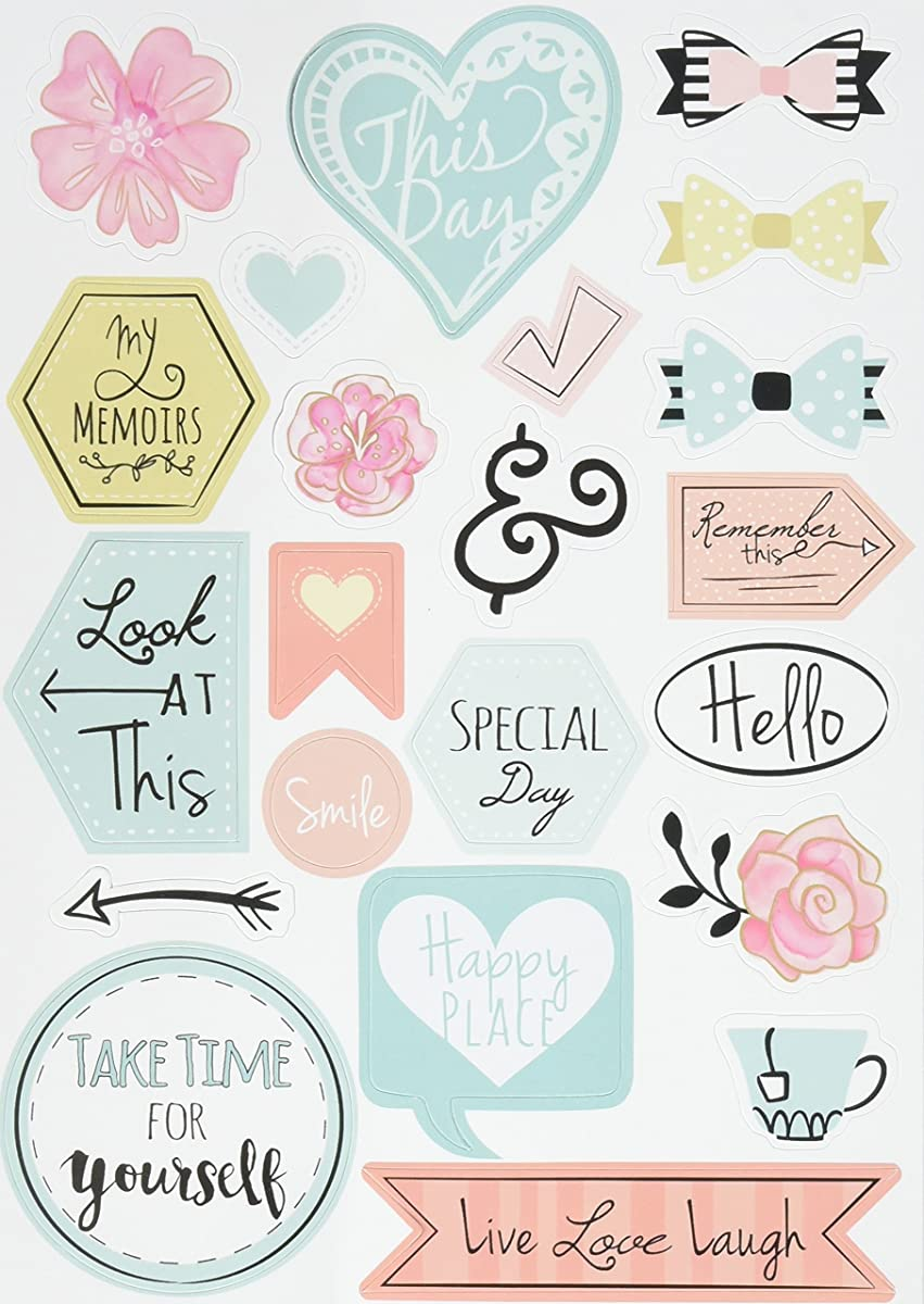 Sizzix 661529 Stickers, Planner Page Icons by Katelyn Lizardi