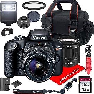 Canon EOS Rebel T100 DSLR Camera w/Canon EF-S 18-55mm F/3.5-5.6 III Zoom Lens + Case + 32GB SD Card (15pc Bundle)