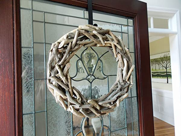 19 Natural Driftwood Wreath For Front Door Summer Summertime Spring Fall Winter Year Round Cottage Nautical Beach Coastal Home Decor