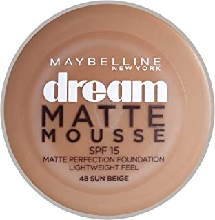 Maybelline New York Dream Matte Mousse Perfection SPF15 Face Foundation - 0.60 oz., 48 Sun Beige