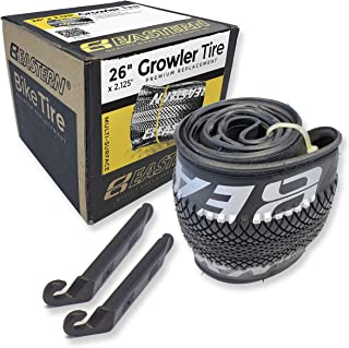 Eastern Bikes Growler Tire 26 x 2.125 Inch Tire Replacement Kits with or Without Inner Tubes. Includes Tools. Fits Bicycles with 26 x 1.75 or 26 x 2.125 Rim or Wheels.