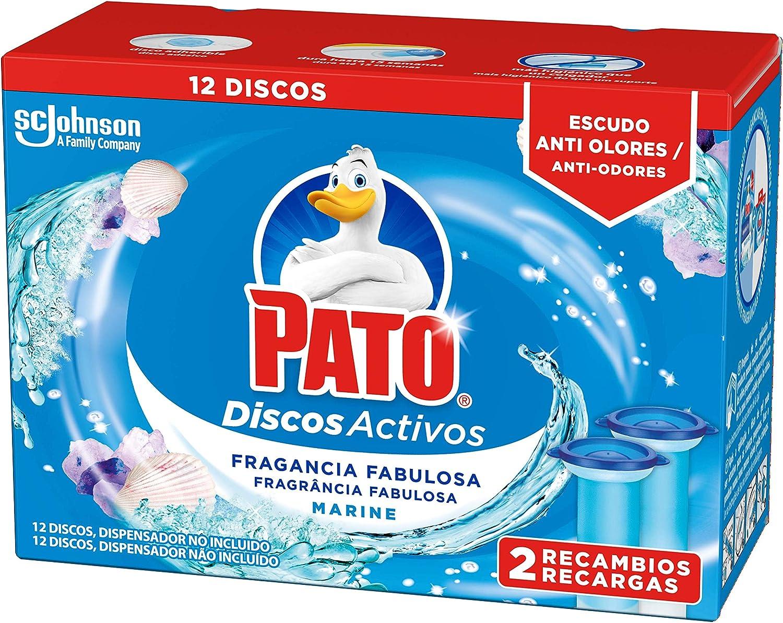 PATO Discos Activos WC Recambio Marine, 2 recambios con 6 discos