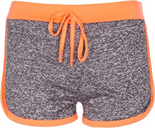 NOROZE Girls Kids Gym Fleck Hot Pants Activewear Shorts