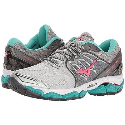Mizuno Wave Horizon (Silver/Diva Pink/Turquoise) Girls Shoes