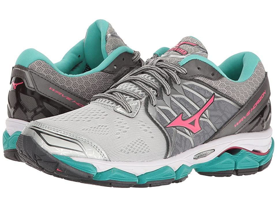 Mizuno Wave Horizon (Silver/Diva Pink/Turquoise) Girls Shoes