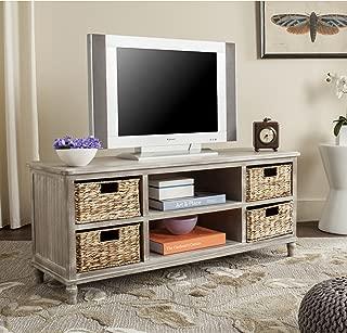 white vintage tv unit
