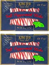 King Leo Soft Peppermint Sticks - 8 oz Pack of Two – Individually Wrapped Peppermint Sticks Fat Free