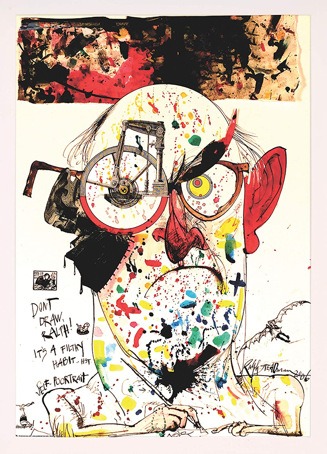 Frame USA Ralph Steadman - Today's only Max 42% OFF Poortrait Poster Self Affordab White