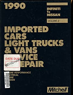 1990 Mitchell Imported Cars Light Trucks and Vans Service Repair (MITCHELL IMPORTED VEHICLES SERVICE AND REPAIR)