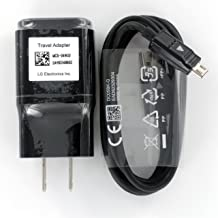 LG Micro USB Travel Charger Adapter with Cable OEM MCS-04, Black