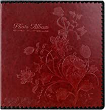Álbum de fotos da Beautyus, álbum de família, capa de couro, comporta 3x5, 4x6, 5x7, 6x8, 8x10 fotos, Wine Red, Medium