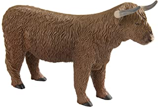 Safari Ltd. Highland Bull – Realistic Hand Painted Toy Figurine Model – Quality Construction from Phthalate, Lead and BPA Free Materials – for Ages 3 and Up