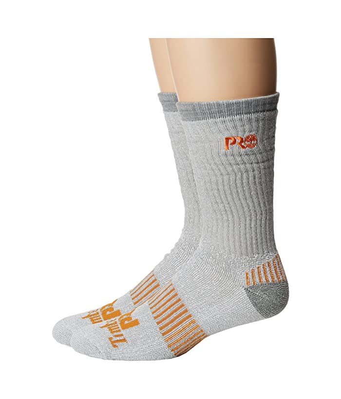 Timberland Cooltouch Poly (White) Men's Crew Cut Socks Shoes
